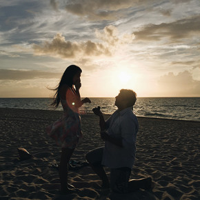 〖笑著環遊世界〗我們在邁阿密海邊訂婚了