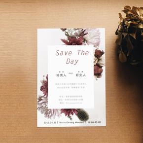 〖婚禮的記事〗最小資的喜帖印製-5款免費板型